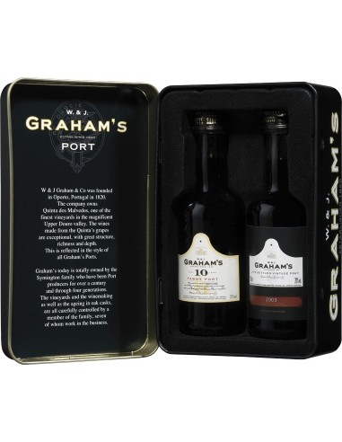 Graham's Mini Pack Lata c/L.B.V 10 anos Min. 2 Grf 5cl   Graham's