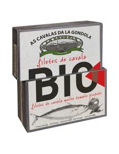 Filetes de Cavala em Molho de Tomate Picante Biológico La Gondola 120 g | La Gondola