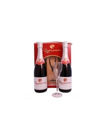Pack Christmas R com 2 garrafas Reserva Meio Seco 75cl + 1 Flûte em caixa de cartão   Murganheira