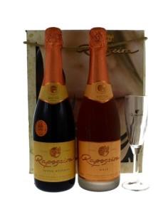 Pack Classic R 1 grf Super Reserve Rosé Bruto + 1grf Super Reserva Blanc de Blancs Bruto + 1 Flûte