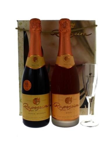 Pack Classic R 1 grf Super Reserve Rosé Bruto + 1grf Super Reserva Blanc de Blancs Bruto + 1 Flûte | Murganheira