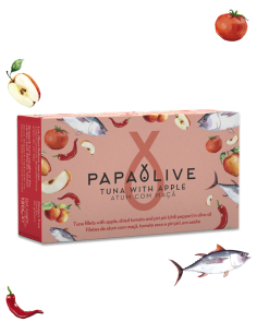 Papaolive Filetes Atum Com Maçã, Tomate Seco e Piri-piri em Azeite | Papaolive