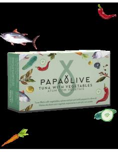Papaolive Filetes Atum Com Vegetais e Especiarias em Azeite