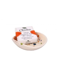 Saboneteira de Cerâmica com Sabonete - Mel e Laranja (105 g)