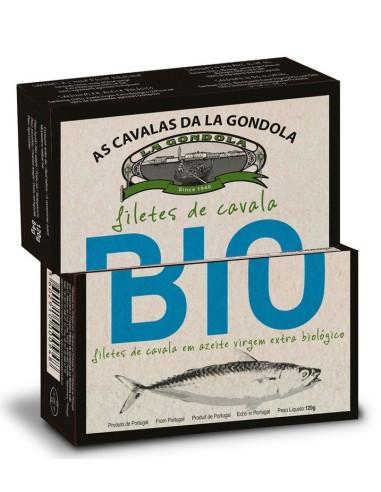 Filetes de cavala em azeite Biológico La Gondola 120g | La Gondola