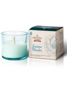 Recycled Glass Jasmine Wonder Candle The Greatest Candle in the World   Oil2Wax