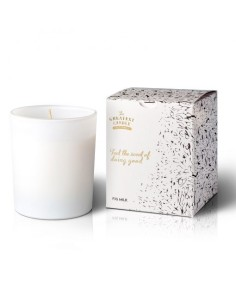 Vela Fig Milk White Glass Infinite The Greatest Candle in the World 170g | Oil2Wax