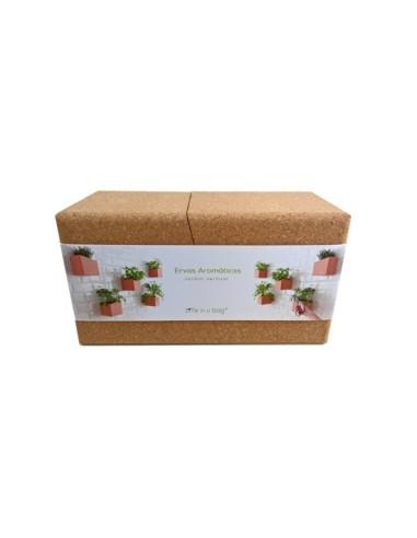 Grow Cork Block - Jardim vertical Life in a bag 700 gr