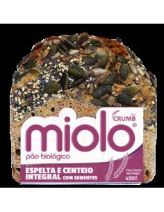 Pão Espelta e Centeio integral com sementes 450g Miolo | miolo