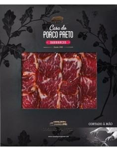 Lombo de Porco Ibérico Bolota 100g (Cortado à Mão) - Envelope negro Casa do Porco Preto | Casa do Porco Preto