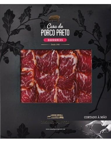 Lombo de Porco Ibérico Bolota Casa do Porco Preto 100g (Cortado à Mão) - Envelope negro   Casa do Porco Preto