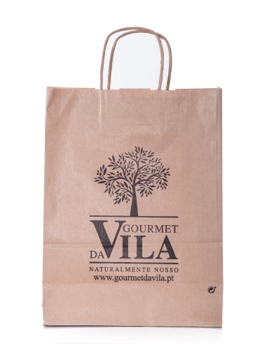 Saco Kraft castanho com logo Pequeno | Gourmet Da Vila