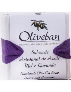 Sabonete Artesanal de Azeite - Mel e Lavanda 105g Oliveban BELEZA