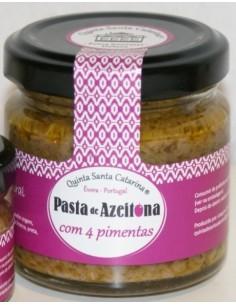 Pasta de Azeitona com 4 Pimentas Quinta Santa Catarina 100g | Quinta Santa Catarina