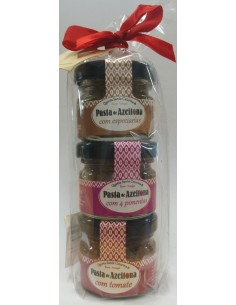 Pack 3mini Sabores Pasta de Azeitona Quinta Santa Catarina 3x25g | Quinta Santa Catarina